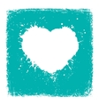 Paint blue Heart from vintage texture paper vector image vector image