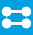 pair of dumbbells icon white vector image