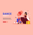 party horizontal banner vector image