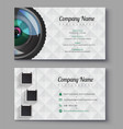 photographer business card template design for vector image vector image