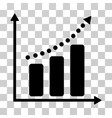 positive trend icon vector image vector image