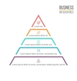 Pyramid triangle with 5 steps levels vector image vector image