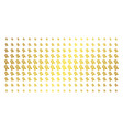 quality golden halftone pattern vector image