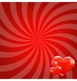 Red Beams And Hearts vector image vector image