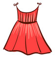 red woman dress on white background vector image vector image