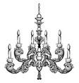rococo rich chandelier vector image vector image