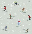 seamless skiing vector image