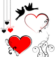 Set of valentines day symbols vector image vector image