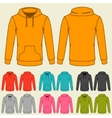 set templates colored sweatshirts for women vector image