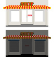 Shop by day and night Storefront at dusk Shop vector image