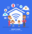 smart home internet things iot family vector image vector image