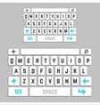 smartphone keyboard template vector image