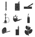 Smoking and tobacco icons vector image