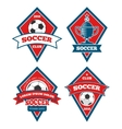 soccer logo templates collection isolated white vector image