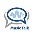 speech bubble music wave talk icon vector image vector image