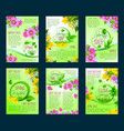 spring season sale poster discount flyer template vector image