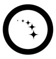 stars on track five items icon black color in vector image vector image