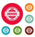 stop logo simple style vector image
