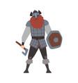 strong muscular viking male scandinavian warrior vector image vector image