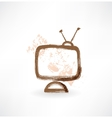 television grunge icon vector image