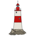 the old red lighthouse vector image vector image