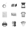 Typography set icons in monochrome style Big vector image vector image