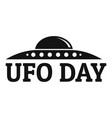 ufo day logo simple style vector image vector image