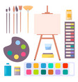 various art supplies set isolated vector image vector image