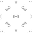 vintage bow tie pattern seamless vector image