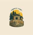 vintage lumber woodworking logo vector image