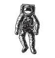 vintage monochrome astronaut concept vector image vector image
