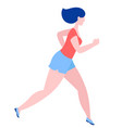 woman jogging running sport fitness outfit flat vector image