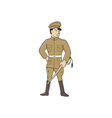 World War One British Officer Sword Standing vector image vector image