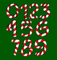 wrapped in a ribbon numbers set of digits vector image