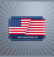 american independence day badge vector image vector image