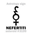 astrology asteroid nefertiti vector image vector image