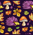 autumn seamless pattern with chestnut and oak vector image