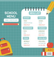 back to school school menu poster template vector image