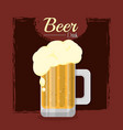 beer cold drink vector image