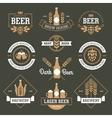 Beer emblems on dark green background vector image