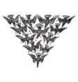 birds flying vintage vector image vector image
