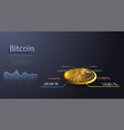 bitcoin symbol and price chart cryptocurrency vector image