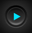 black button with blue play sign on carbon vector image vector image