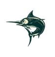 blue marlin jump scratchboard vector image vector image