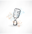 cartoon microphone grunge icon vector image vector image