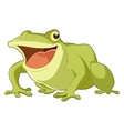 Cartoon smiling frog vector image vector image