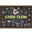 Cash flow vector image