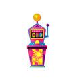 casino slot machine with fruits like apple banana vector image vector image