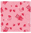 Children pink abstract seamless pattern vector image vector image