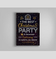 christmas party brochure vector image vector image